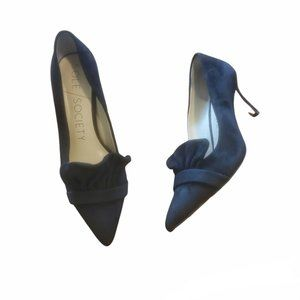 """sole society leather black pointed toe heels """"so-darbia"""""""